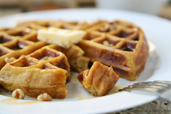 Pumpkin Yeasted Waffles 1