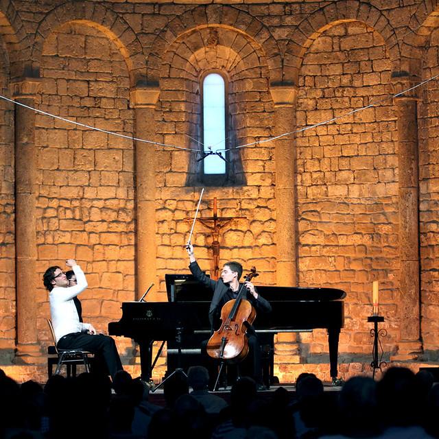FERNANDO ARIAS, VIOLONCELLO, Y LUIS DEL VALLE, PIANO EN LA SCHUBERTIADA DE VILABERTRÁN 2012