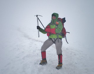 Clare Near the Summit of Mt. Rainier