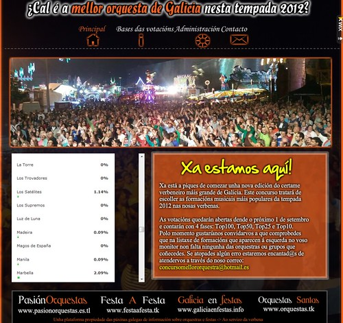 Concurso Mellor orquestra de Galicia 2012