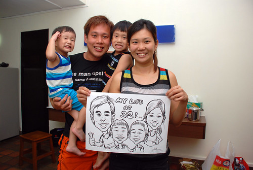caricature live sketching for birthday party 10022012 - 4