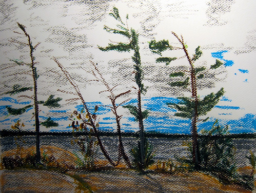 Killbear Pastel by Michael Mitchener