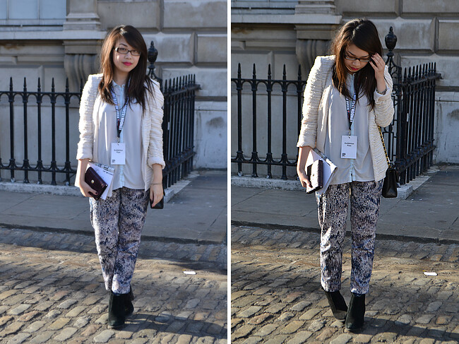 daisybutter - UK Style and Fashion Blog: what i wore, ootd, london fashion week, SS13, temperley london, temperley for filofax, #LFWgetorganised