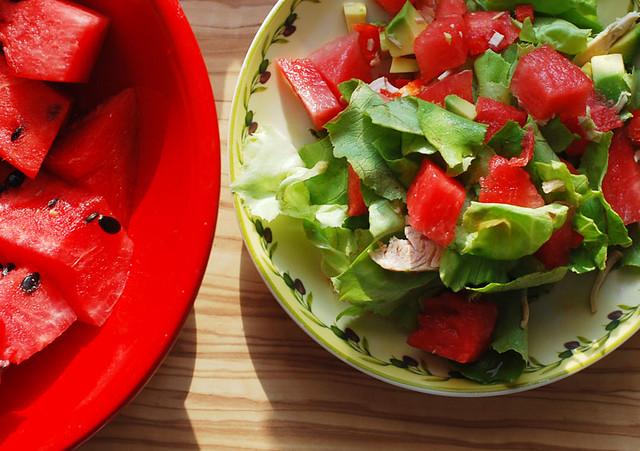 salad with melon