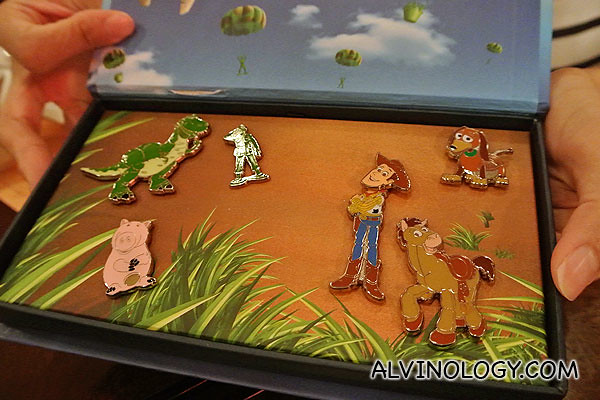 Toy Story pins to take home