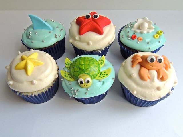 Under the Sea Cupcakes for Kids (Charity) Vanilla ...