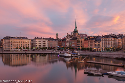 architecture sunrise boats sweden stockholm gamlastan oldtown
