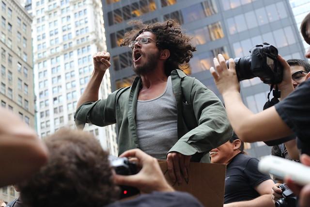 Fist pump at Occupy Wall Street