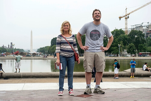Leslie and Andy on the mall in Washington DC