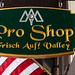 Frisch Auf! Valley Country Club Pro Shop Sign in La Grange, TX