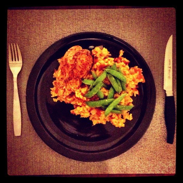 Husband made paella! #whatsfordinner #yum #paella