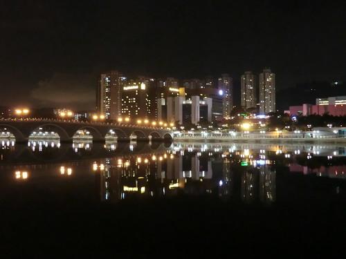 沙田の川辺の景色 in 香港