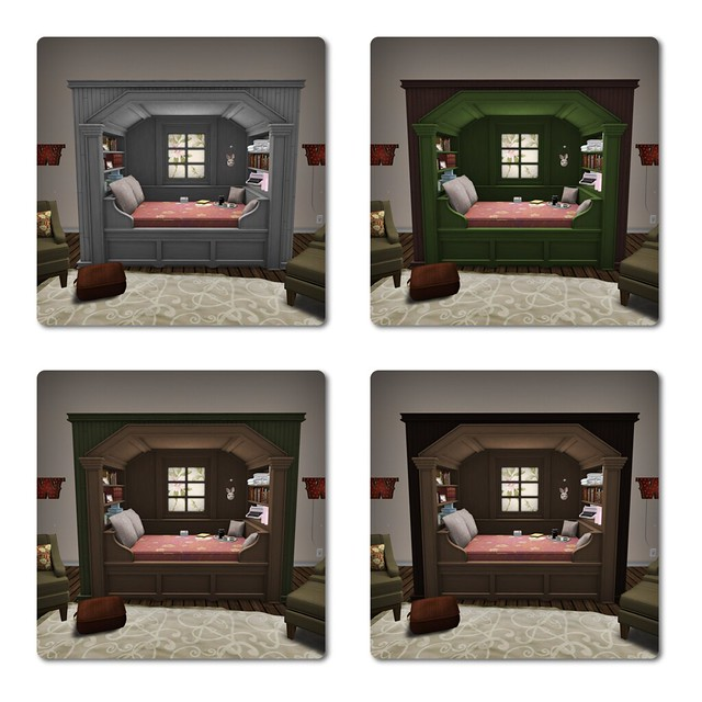 Trompe Loeil - Morning Light Cupboard Bed Rose Tint Variations