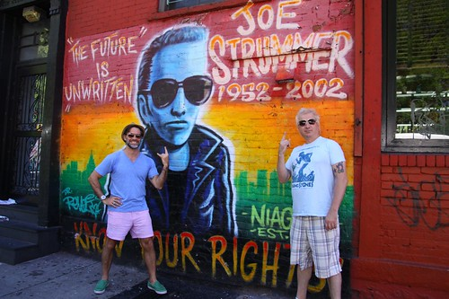 With Bobby Pinn, Joe Strummer @ the Niagra