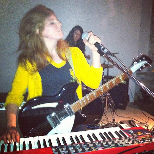 Haley, vocals guitar keyboard for Blood Horses, does her thing at Brickhaus on Oct 6 for POC Zine Project's race riot! tour