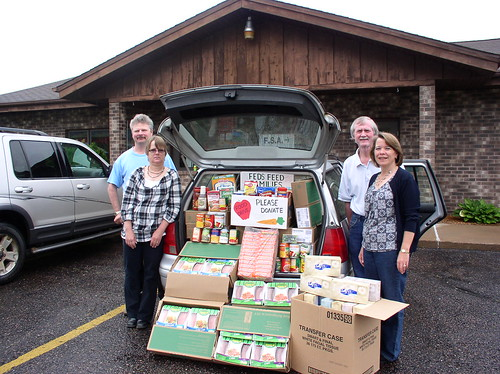 Ladysmith Service Center employees with a Feds Feed Families donation.   Left to right Rick Cote (FSA PT) – Sandy Voldberg(FSA-PT) – Mike  Koehler(NRCS-DC) – Kathy Brihn(FSA-CED) Ladysmith Service Center employees with a Feds Feed Families donation.   Left to right Rick Cote (FSA PT) – Sandy Voldberg(FSA-PT) – Mike  Koehler(NRCS-DC) – Kathy Brihn(FSA-CED)
