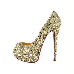 outdoor shoe(0.0), yellow(0.0), leather(0.0), sandal(0.0), glitter(0.0), limb(0.0), leg(0.0), pattern(1.0), basic pump(1.0), footwear(1.0), shoe(1.0), high-heeled footwear(1.0), design(1.0),