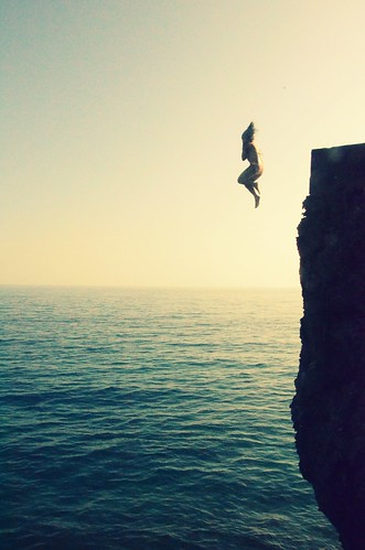 Jumping from a 40 ft cliff Camotes Island, Philippines