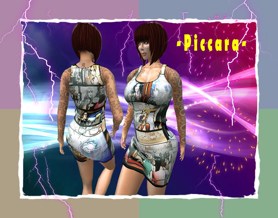 - piccara - Comics Tank Dress (Stuff in Stock)