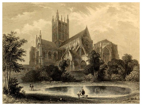 007-Catedral de Wells vista sudeste-Winkles's architectural and picturesque illustrations of the catedral..1836-Benjamin Winkles