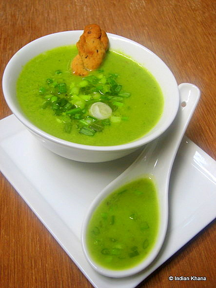 Spring Onion & Peas Soup