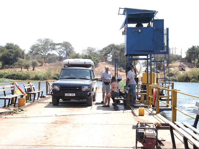 Crossing on the Kafue River Pontoon