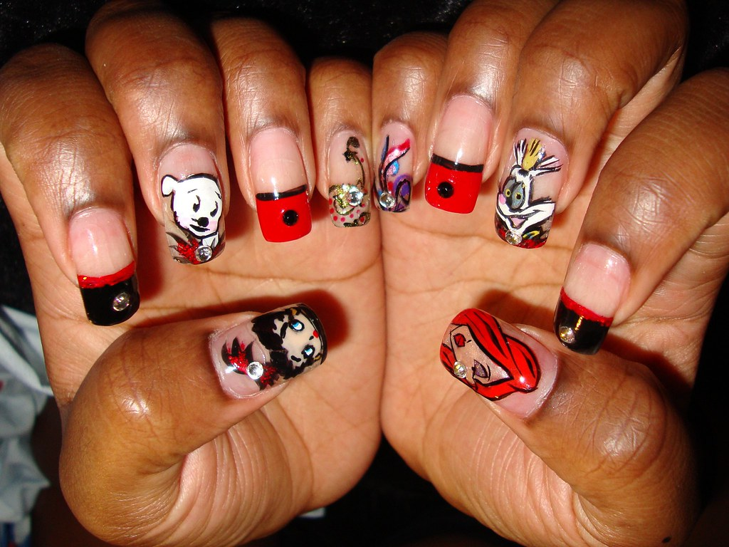 Betty Booop and roger rabbit and jesica rabbit nails - a photo on ...