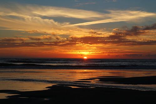 ocean sunset water waves 366
