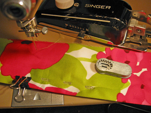 pink green belt buttonhole