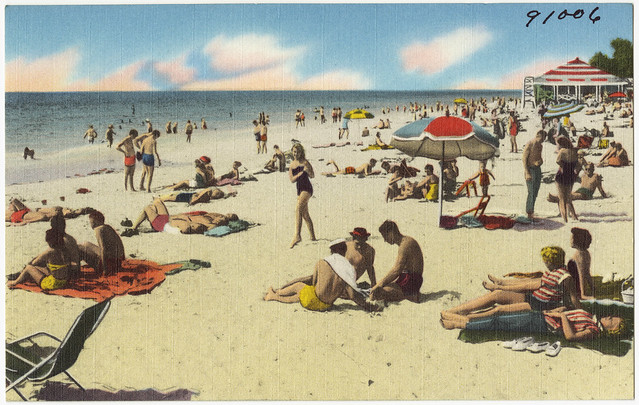 Clearwater Beach, Florida postcard - Flickr CC Boston Public Library