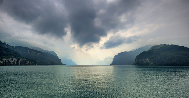Dark clouds above Lake Lucerne [Front Page Explored]