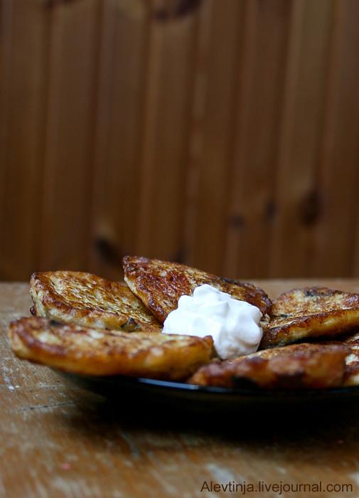 кабачковые оладьи с фетой