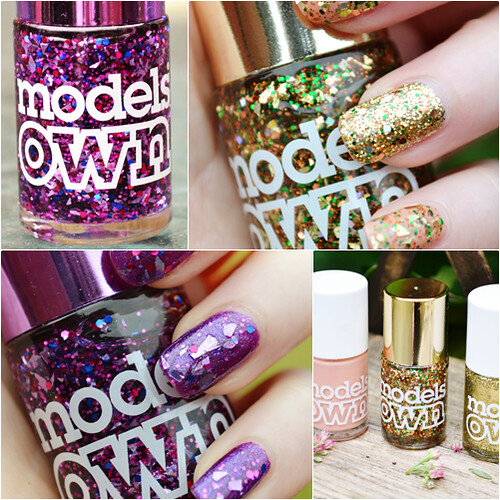Models Own Mirrorball collection nail swatches