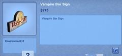 Vampire Bar Sign