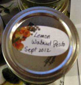 Lemon walnut pesto