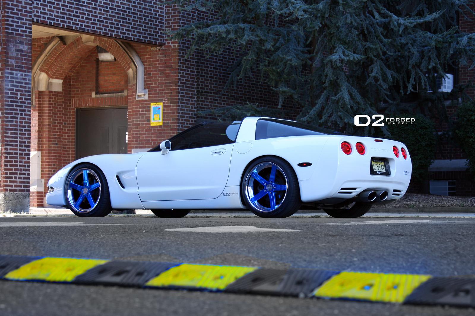 Candy Blue Corvette C5 D2forged Cv2 S