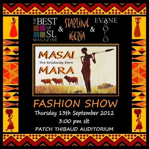 Masai Mara Fashion Show by Ellendir Khandr MMV 2012 Miss Costa Rica