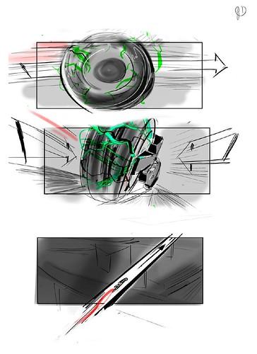 120912(2) - 好萊塢真人電影版《光明戰士 AKIRA》片頭場面的『分鏡表』正式公開......對啦、還有修改的空間啦! (1/7)