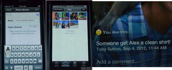 Переписка и фото в iPhone 5