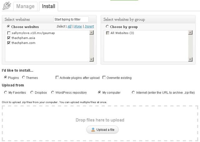 Quản lý nhiều blog WordPress cùng một lúc đơn giản với ManageWP 214