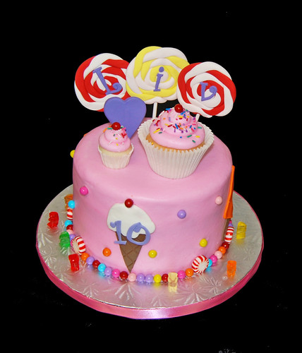 10th birthday for a 10th Brithday cake Katy Perry California Gurls themed party