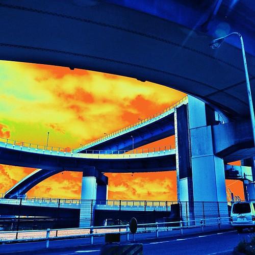 #instagood #love #iphonesia #photooftheday #instamood #igers #instagramhub #picoftheday #jj   #instadaily #bestoftheday #igdaily #tbt #beautiful #webstagram #instagramers #picstitch #happy #follow #WHPunderoverpass #loop #bridge #めがね橋 #osaka #japan #tadaa