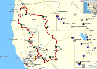 Route OR-CA-NV-OR, Sept. 2012