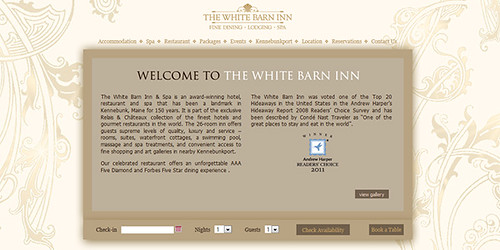 White Barn Inn Screenshot