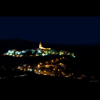 Buzet at night