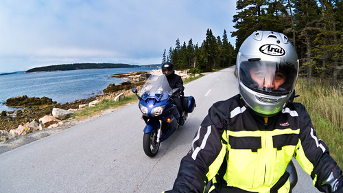 Riding in Acadia National Park, Schoodic Peninsula, ME