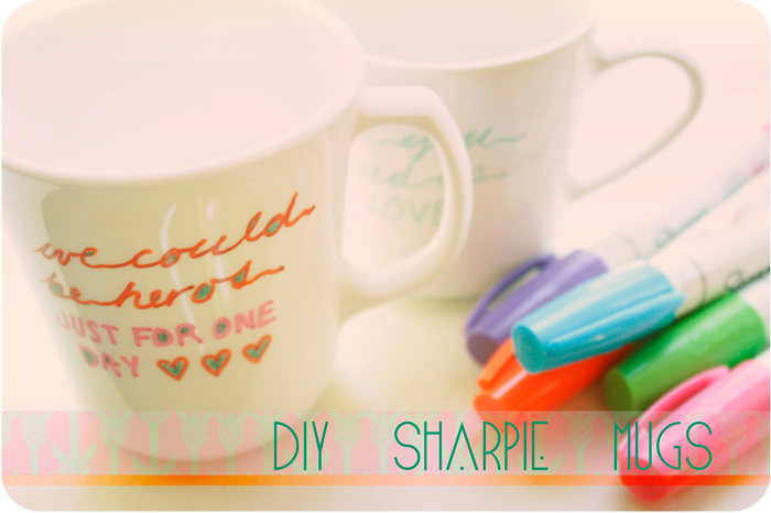 {diy} sharpie mugs