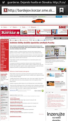 Report at Korzar newspaper. Slovakia. by gemma_granados