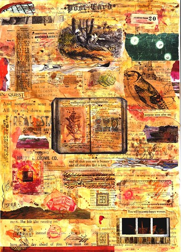 Collage: Post Card Series: I  In Quest