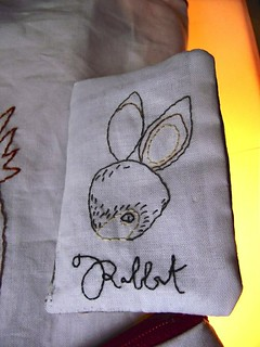 Erin Paisley rabbit needlecase